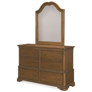 Legacy Classic Kids Danielle 6-Drawer Dresser and Arched Mirror Set