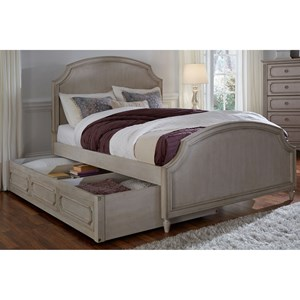Full Panel Bed with Storage Trundle