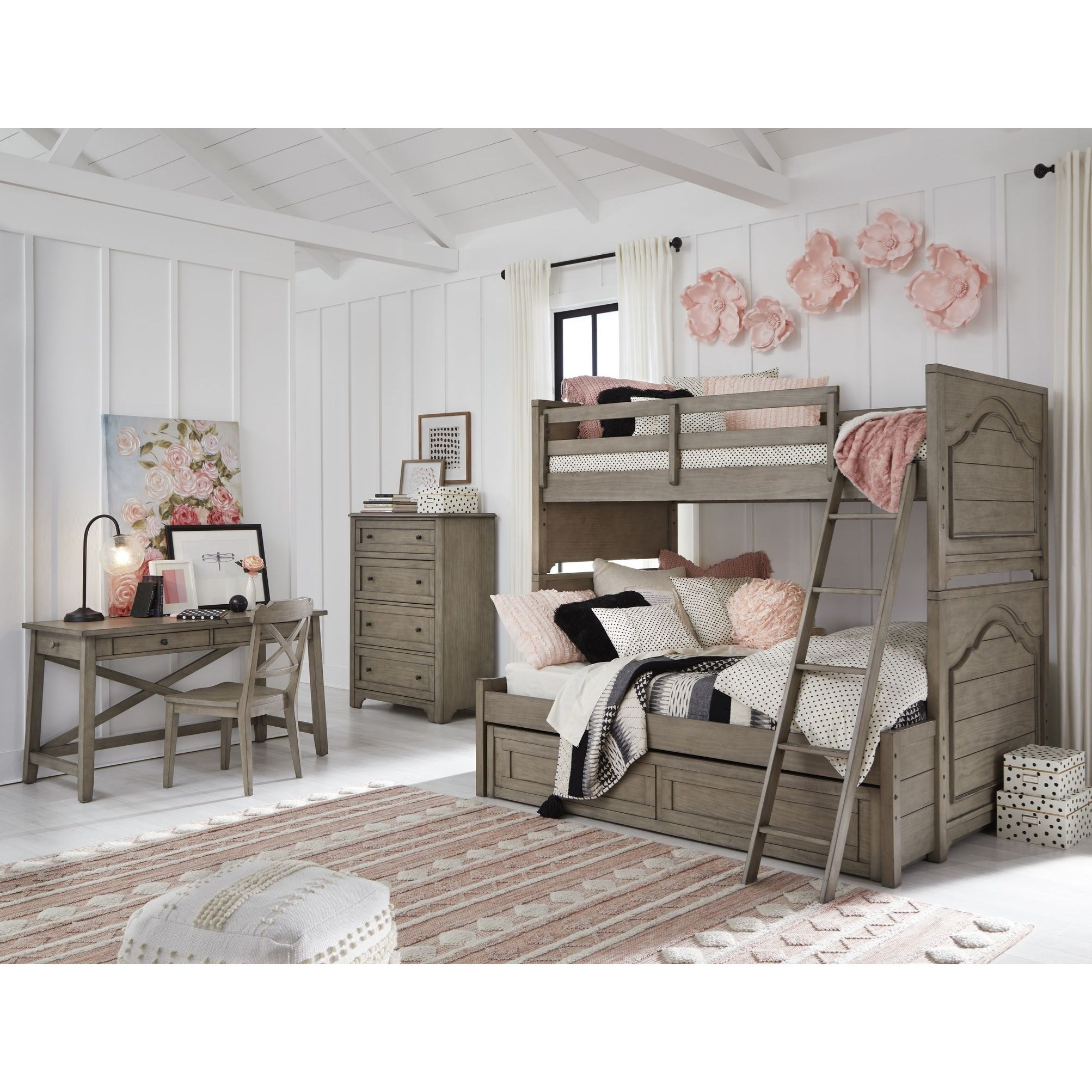 Farm House Twin over Full Bunk Bedroom Group by Legacy Classic Kids at Mueller Furniture