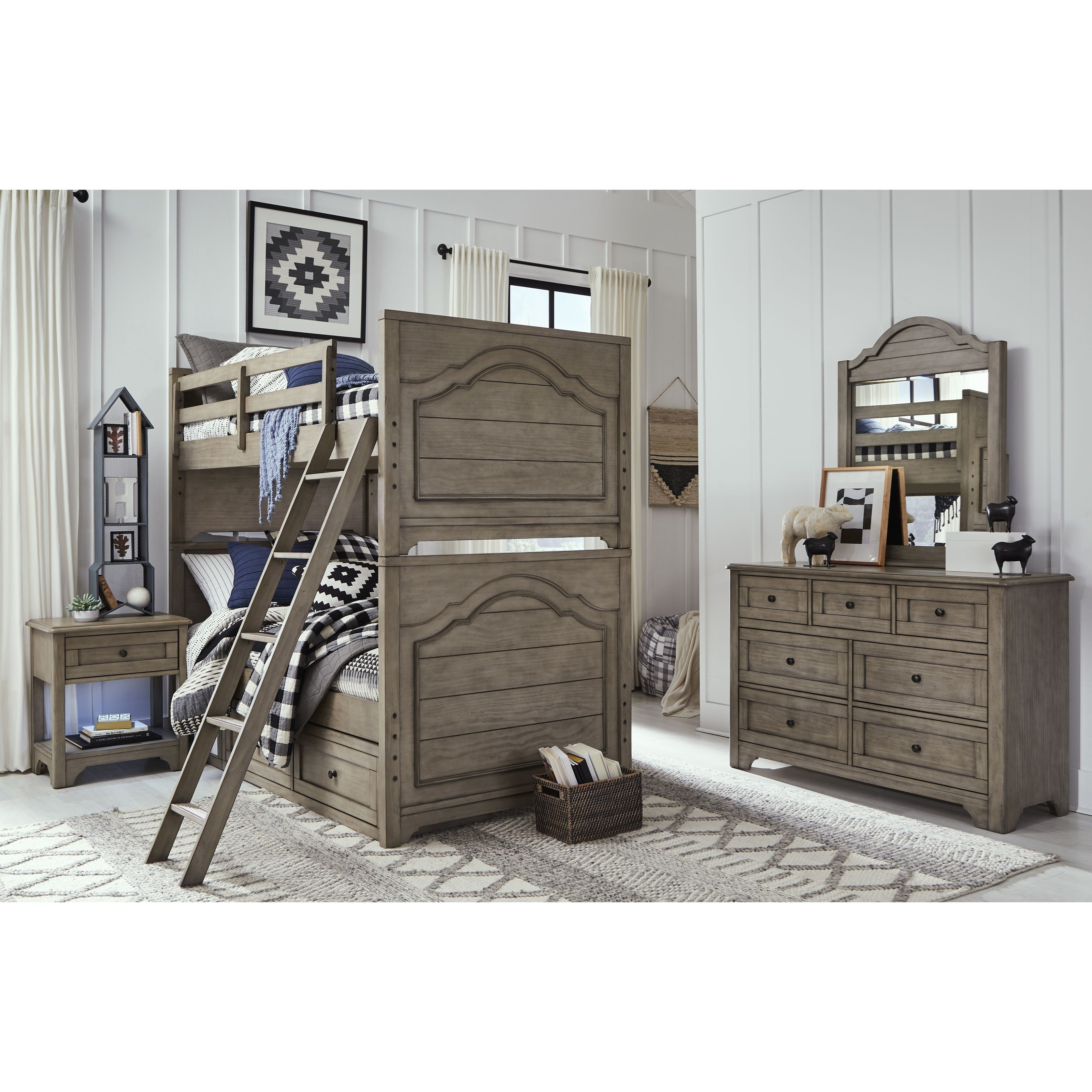 Farm House Twin over Twin Bunk Bedroom Group by Legacy Classic Kids at Mueller Furniture