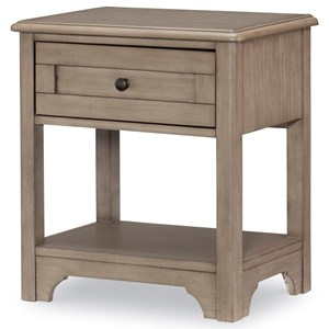 Open Nightstand with Motion Activated Light