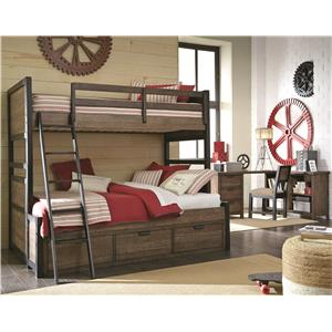 Legacy Classic Kids Fulton County Twin Over Full Bedroom Group