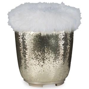 Glam Vanity Stool with Concealed Storage