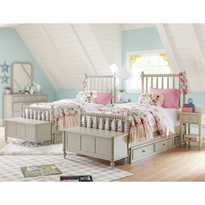 Cottage Panel Twin Bed with Underbed Storage Unit