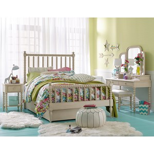 Cottage Panel Twin Bed with Low Profile Trundle