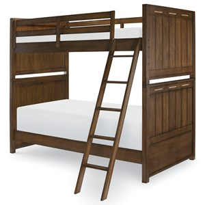 Twin over Twin Bunk Bed with Ladder