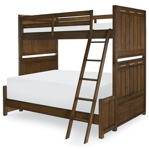 Twin over Full Bunk Bed with Ladder