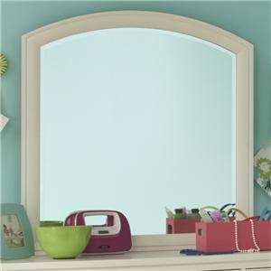 Legacy Classic Kids Park City White Arched Dresser Mirror