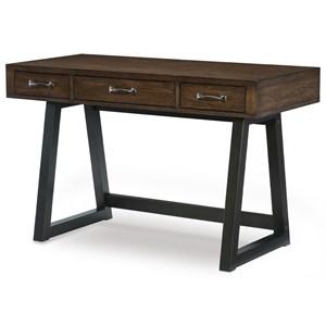 Industrial 3-Drawer Desk with USB Port