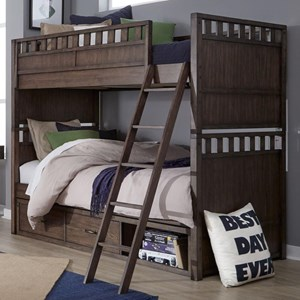 Twin over Twin Bunk Bed with Underbed Storage