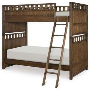 Contemporary Twin over Twin Bunk Bed