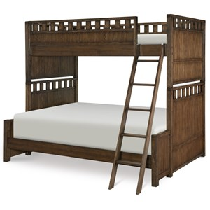Contemporary Twin over Full Bunk Bed