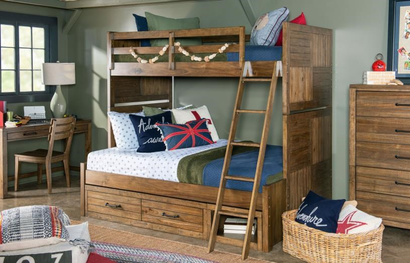 Summer Camp Twin Over Full Bunk Bed by Legacy Classic Kids at Johnny Janosik