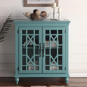 Meghan Blue Chest with Fretwork Doors