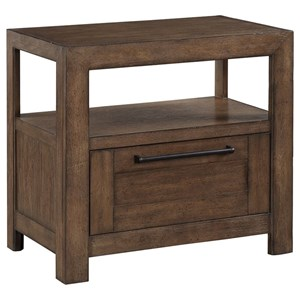 Modern Rustic 1-Drawer Open Nightstand