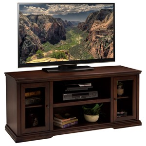 62 Inch TV Console with Door and Shelf Storage