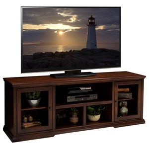 74 Inch TV Console with Door and Shelf Storage