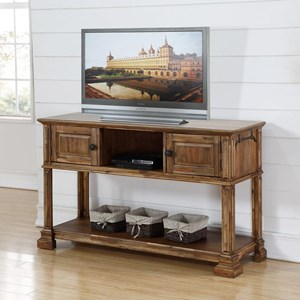 Traditional Sofa Table with 2 Drawers