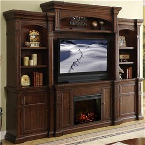 Legends Furniture Berkshire  Fireplace Console Wall System