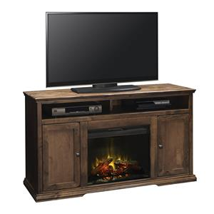 Fireplace Console in Aged Whiskey Finish