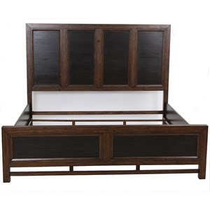Contemporary Queen Panel Bed