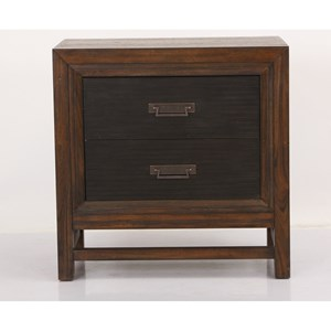 Contemporary Nightstand with Two Drawers