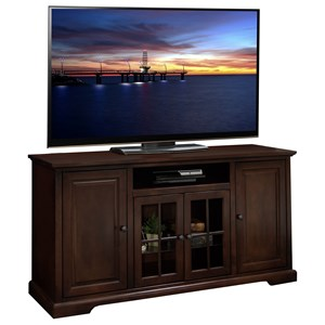 """Smooth Finished 64"""" TV Console with Paneled Doors"""