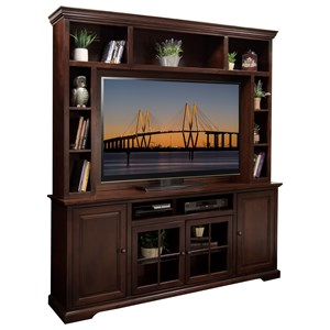 """Extra Wide 78"""" TV Console for Storage and Organization with Hutch"""