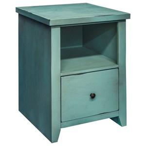 Legends Furniture Calistoga Collection Calistoga Blue File Cabinet