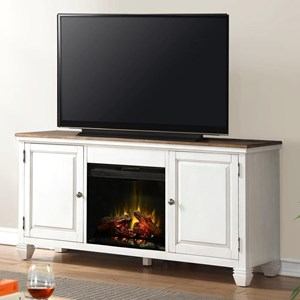 "Camden 68"" Fireplace Console with Two Doors"