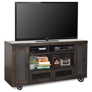 "66"" TV Console with Bottom Wheel Design"