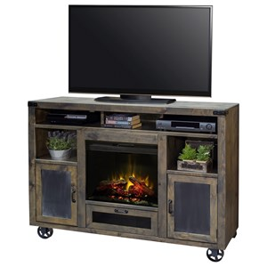 "Legends Furniture Cargo 62"" Fireplace Console"