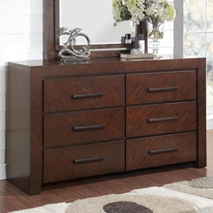 6 Drawer Dresser with Top Felt-Lined Drawers