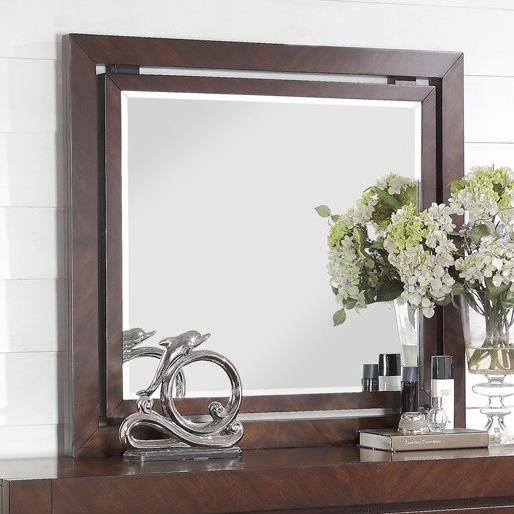 City Lights Mirror with Wood Frame by Legends Furniture at Household Furniture