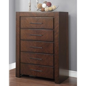 5 Drawer Chest with Top Felt-Lined Drawer