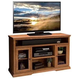Two Door 54-Inch Tall TV Cart