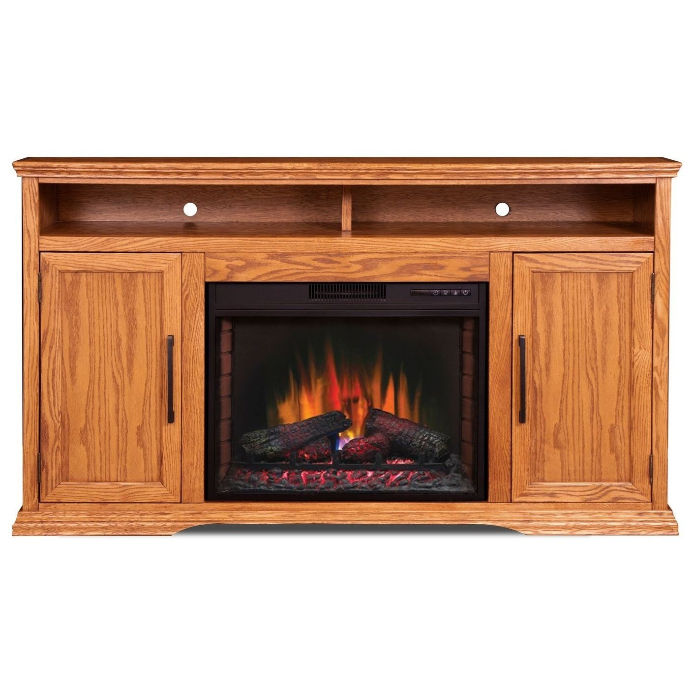 "Colonial Place 66"" Fireplace Console by Legends Furniture at Darvin Furniture"