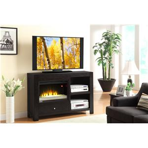 54-Inch TV Console with Fireplace