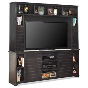 Casual Cottage-Style Entertainment Wall Unit
