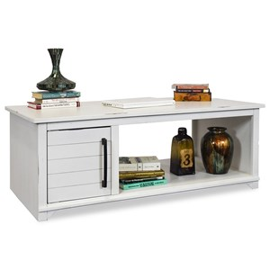Casual Coffee Table with Doors