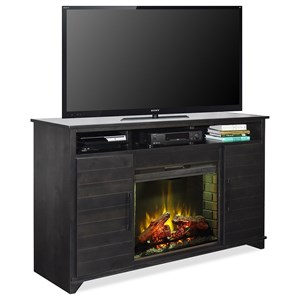 Casual 2 Door Fireplace Console