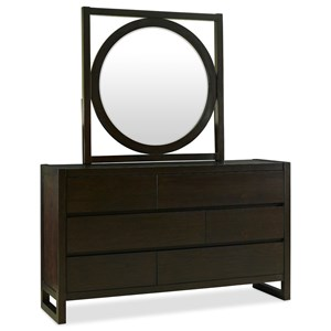 Contemporary Dresser and Mirror Set