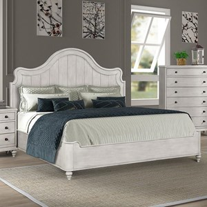 Cottage Style Queen Bed with Built-in USB Ports