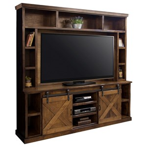 Entertainment Wall Console with Sliding Doors