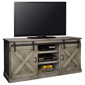 "Farmhouse 66"" TV Console with Industrial Accents"