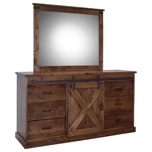 Farmhouse Dresser and Mirror Set
