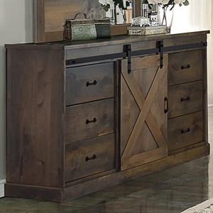 Rustic Deluxe 6 Drawer Dresser