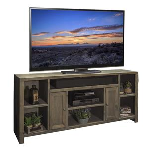 """74"""" TV Console with 2 Doors and 7 Shelves"""