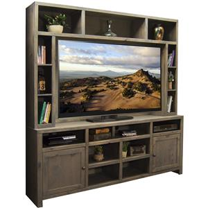 Entertainment Unit with 2 Doors and 17 Shelves