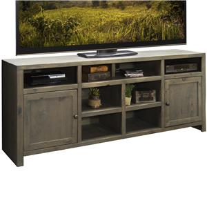"84"" Super Console with 2 Doors and 8 Shelves"
